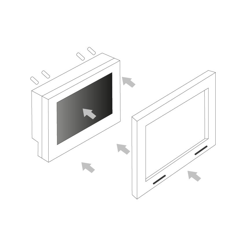 Open frame behuizing