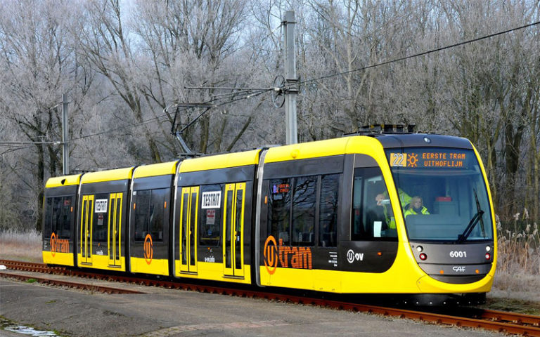 Touchmonitoren in trams