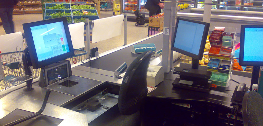 Cash register touch terminal